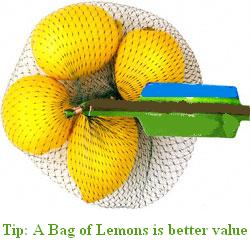 Bag of Lemons for Treating Acne